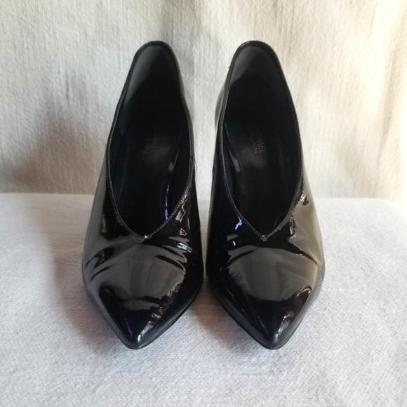 Michael Kors black patent heels. Size 5.5